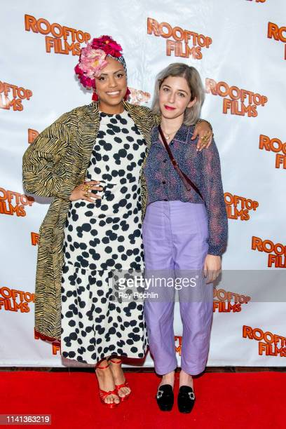 Jaime Lee Kirchner and Annabelle Attanasio attend the Rooftop Films Spring Gala at St Bart's church on April 08 2019 in New York City