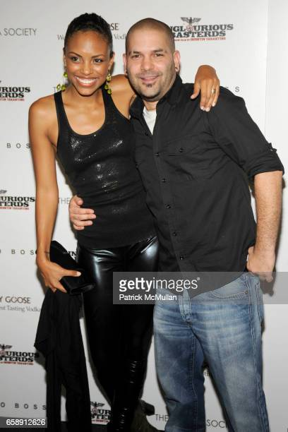 Jaime Lee Kirchner and Guillermo Diaz attend THE CINEMA SOCIETY HUGO BOSS host a screening of INGLOURIOUS BASTERDS at School of Visual Arts Theater...