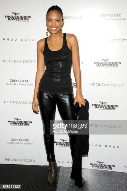 Jaime Lee Kirchner attends THE CINEMA SOCIETY HUGO BOSS host a screening of INGLOURIOUS BASTERDS at School of Visual Arts Theater on August 17 2009...