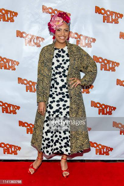 Jaime Lee Kirchner attends the Rooftop Films Spring Gala at St Bart's church on April 08 2019 in New York City