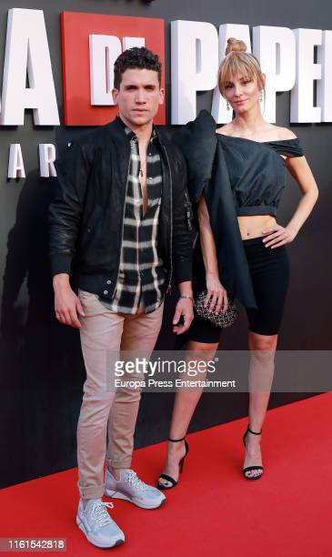 Jaime Llorente and Esther Acebo attend 'La Casa de Papel' Season 3 Premiere at Callao Cinema on July 11 2019 in Madrid Spain