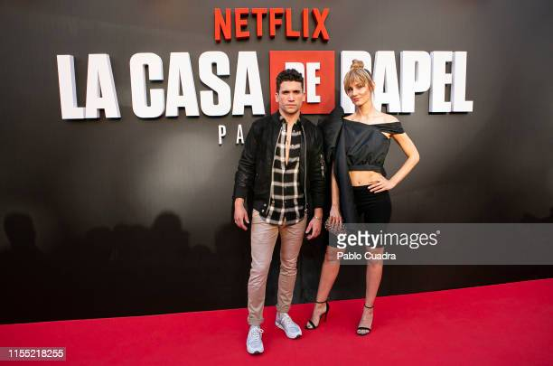 Jaime Llorente and Esther Acebo attend the red carpet of 'La Casa De Papel' 3rd Season by Netflix on July 11 2019 in Madrid Spain