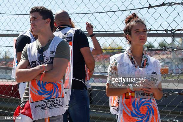 Jaime Lorente actor and Maria Pedraza actress of La Casa de Paper during the F1 Grand Prix of Spain at Circuit de BarcelonaCatalunya on May 12 2019...