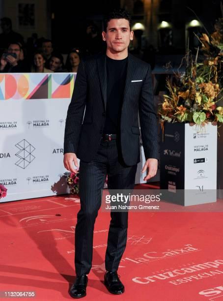 Jaime Lorente attends '¿A Quien Te Llevarias A Una Isla Desierta' Netflix premiere at Teatro Cervantes on March 22 2019 in Malaga Spain