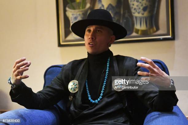 Jaime Luis Gomez aka Taboo of the Black Eyed Peas and a cancer survivor speaks during an interview with AFP on the eve of the World Cancer Leaders'...