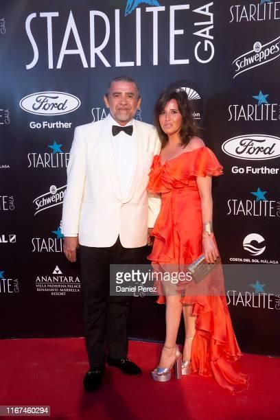 Jaime Martinez-Bordiu and Marta Fernandez attend Starlite Gala on August 11, 2019 in Marbella, Spain.