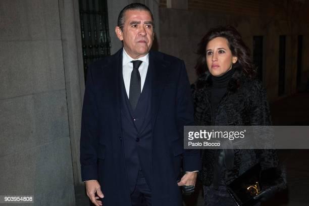 Jaime MartinezBordiu and Marta Fernandez attend the funeral mass for Carmen Franco daughter of the dictator Francisco Franco at the 'Francisco de...