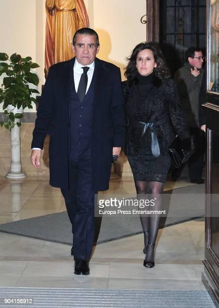 Jaime MartinezBordiu and Marta Fernandez attend the funeral mass for Carmen Franco daughter of the dictator Francisco Franco at the Francisco de...