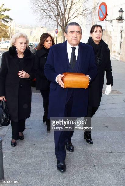 Jaime MartinezBordiu Carmen MartinezBordiu and Marta Fernandez attend the funeral service for Carmen Franco daughter of the dictator Francisco Franco...