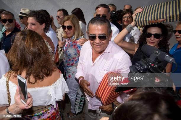 Jaime Martinez-Bordiu is seen arriving at La Goyesca bullfights on September 1, 2018 in Ronda, Spain.