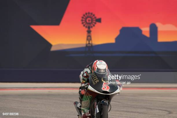 Jaime Masia of Spain and Bester Capital Dubai KTM heads down a straight during the MotoGp Red Bull US Grand Prix of The Americas Free Practice at...