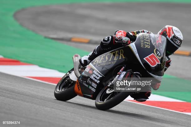 Jaime Masia of Spain and Bester Capital Dubai rounds the bend during the MotoGp of Catalunya Free Practice at Circuit de Catalunya on June 15 2018 in...