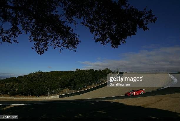 Jaime Melo drives the Risi Competizione Ferrari 430 GT during practice for the American Le Mans Series Monterey Sports Car Championship on 19th...