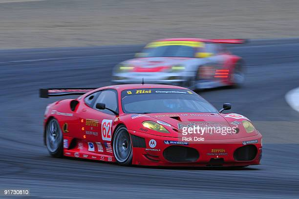 Jaime Melo drives the Risi Competizione Ferrari 430 GT during warm up for the American Le Mans Series 2009 Monterey Sports Car Championships at Mazda...