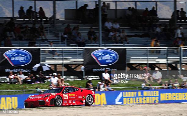 Jaime Melo driving the Risi Competizione Ferrari 430 GT during qualifying for the American Le Mans Series Larry H Miller Dealerships Utah Grand Prix...