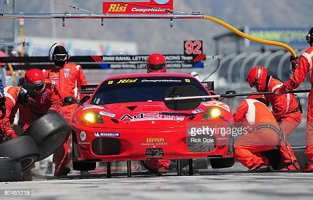 Jaime Melo driving the Risi Competizione Ferrari 430 GT during the American Le Mans Series Larry H Miller Dealerships Utah Grand Prix on May 17 2009...