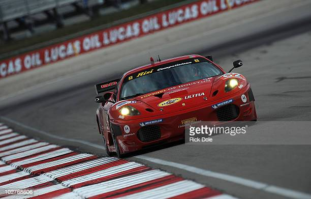Jaime Melo of Brazil and driver of the Risi Competizione Ferrari 430 GT during practice for the American Le Mans Series Larry H Miller Dealerships...