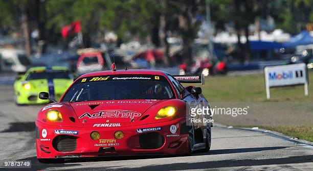 Jaime Melo of Brazil drives the Risi Competizione Ferrari 430 GT during qualifying for the ALMS 12 Hours of Sebring at Sebring International Raceway...