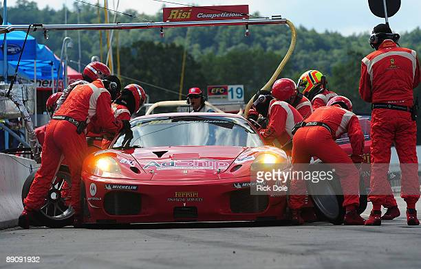 Jaime Melo of Brazil driving the Risi Competizione Ferrari 430 GT during the American Le Mans Northeast Grand Prix at Lime Rock Park on July 18 2009...