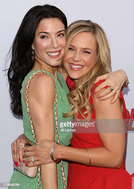 Jaime Murray and Julie Benz attend the 'Dexter' series finale season premiere party at Milk Studios on June 15 2013 in Hollywood California