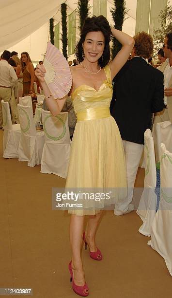 Jaime Murray attends the Cartier International Polo at Windsor Great Park Windsor England on July 30 2006