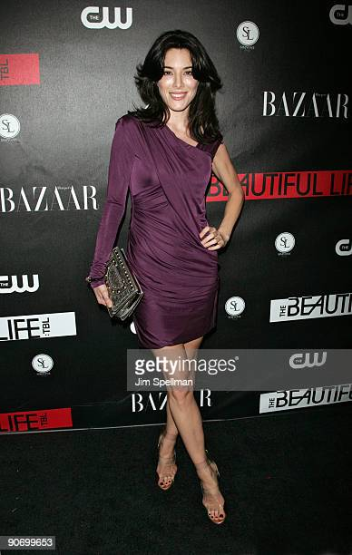 Jaime Murray attends the CW Network celebration of its new series 'The Beautiful Life TBL' at the Simyone Lounge on September 12 2009 in New York City
