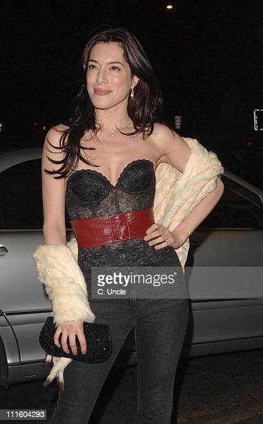 Jaime Murray during Gina Shoes 50th Birthday Party Outside at The Dorchester in London Great Britain