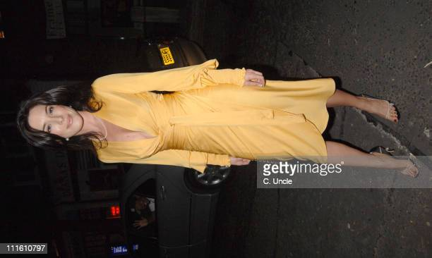 Jaime Murray during MAC Cocktail Party Arrivals September 18 2005 at The Hospital in London Great Britain