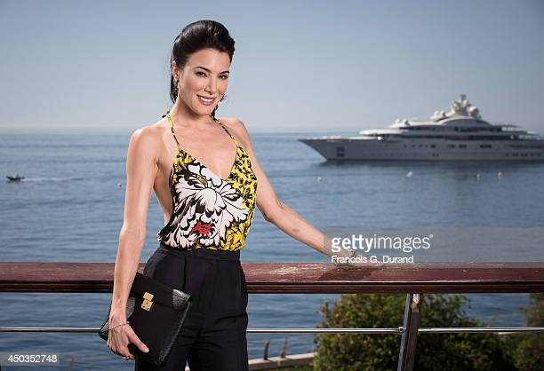 Jaime Murray poses during a portrait session at Grimaldi Forum on June 9 2014 in Monaco Monaco