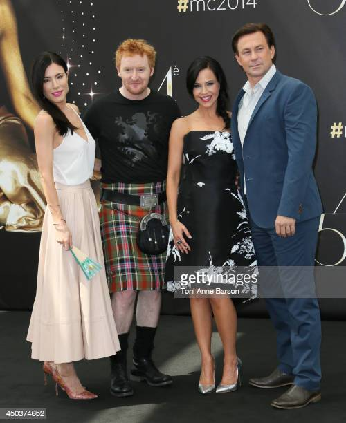 """Jaime Murray, Tony Curran, Julie Benz and Grant Bowler attend """"Defiance"""" Photocall at the Grimaldi Forum on June 10, 2014 in Monte-Carlo, Monaco."""