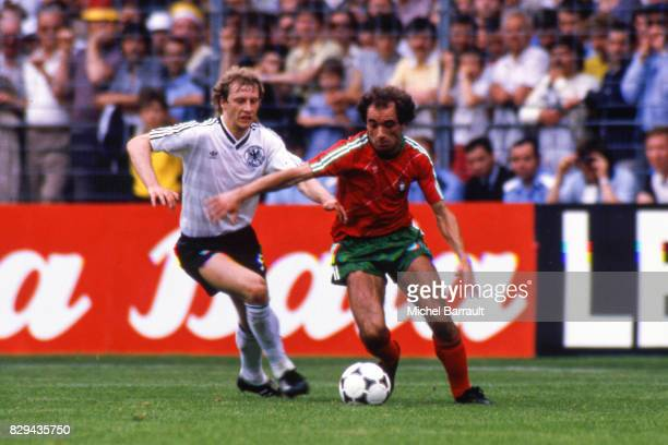 Jaime Pacheco of Portugal during the European Championship match between West Germany and Portugal at Meinau Strasbourg Paris on 14th June 1984