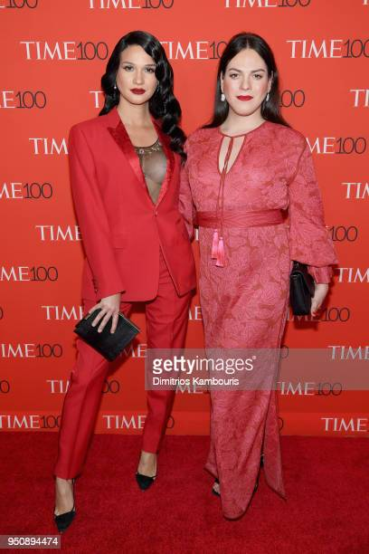 Jaime Panoff and Daniela Vega attend the 2018 Time 100 Gala at Jazz at Lincoln Center on April 24 2018 in New York City