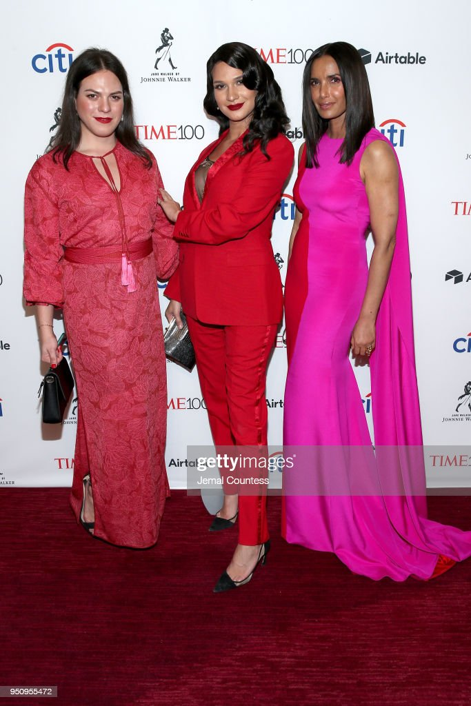 Jaime Panoff, Daniela Vega and Padma Lakshmi attend the 2018 Time 100 Gala at Jazz at Lincoln Center on April 24, 2018 in New York City.