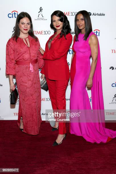 Jaime Panoff Daniela Vega and Padma Lakshmi attend the 2018 Time 100 Gala at Jazz at Lincoln Center on April 24 2018 in New York City