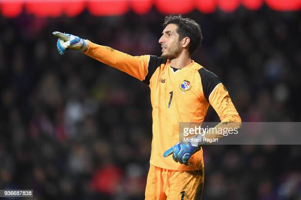 Jaime Penedo of Panama in action duiring the International Friendly match between Denmark and Panama at Brondby Stadion on March 22 2018 in Brondby...