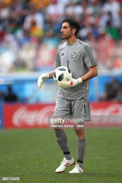 Jaime Penedo of Panama looks on during the 2018 FIFA World Cup Russia group G match between England and Panama at Nizhny Novgorod Stadium on June 24...