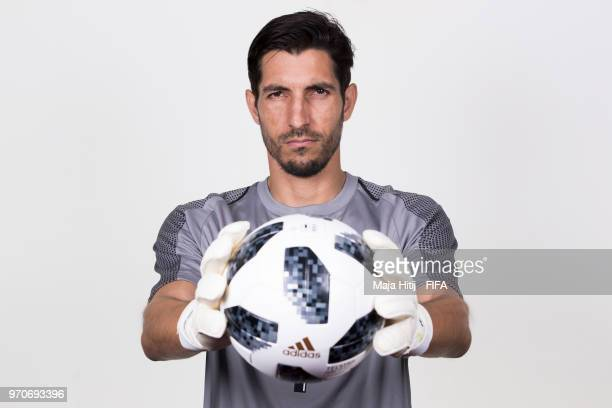 Jaime Penedo of Panama poses for a portrait during the official FIFA World Cup 2018 portrait session at the Saransk Olympic Training Center on June 9...