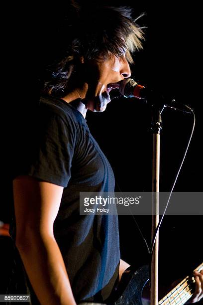 Jaime Preciado of Pierce The Veil performs at the Emerson Theater on April 11 2009 in Indianapolis Indiana