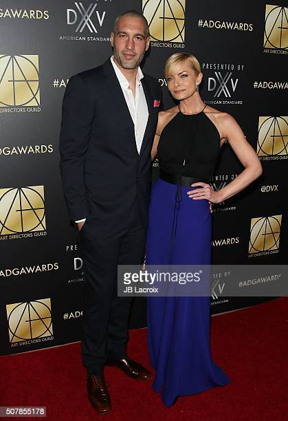 Jaime Pressly and Hamzi Hijazi attend the Art Directors Guild 20th Annual Excellence in Production Awards at The Beverly Hilton Hotel on January 31...