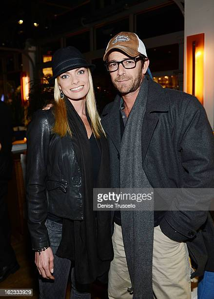 Jaime Pressly and Luke Perry attend the Have A Heart benefit for organ donor recipients and their families at Mixology LA at the Farmers Market on...
