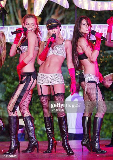 Jaime Pressly and The Pussycat Dolls during The Official Launch Party For Spike TV At The Playboy Mansion Inside at The Playboy Mansion in Bel Air...
