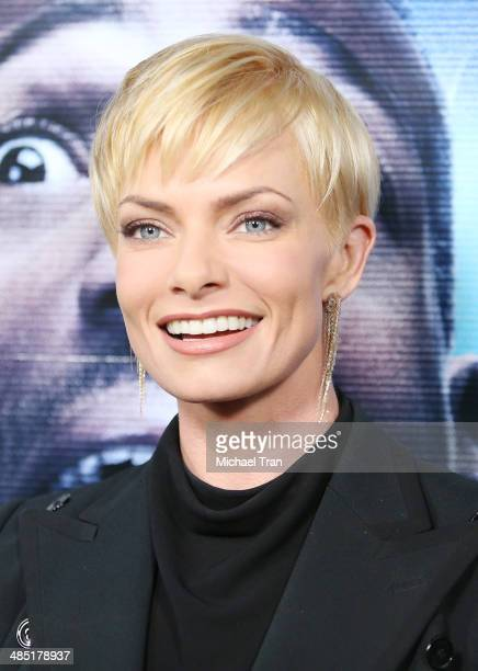 Jaime Pressly arrives at the Los Angeles premiere of 'A Haunted House 2' held at Regal Cinemas LA Live on April 16 2014 in Los Angeles California