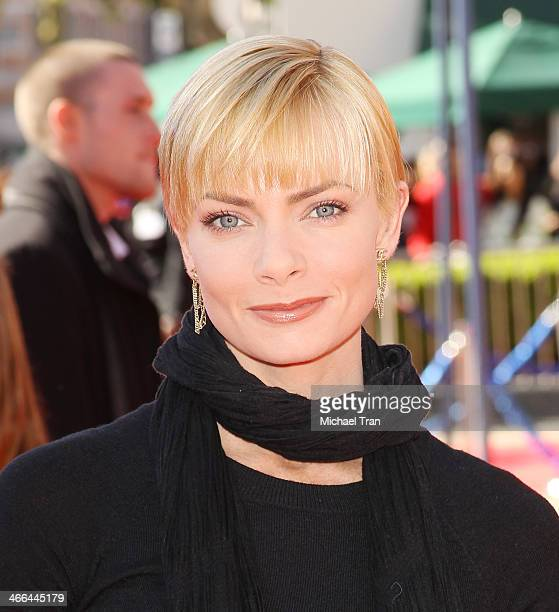Jaime Pressly arrives at the Los Angeles premiere of 'The Lego Movie' held at Regency Village Theatre on February 1 2014 in Westwood California