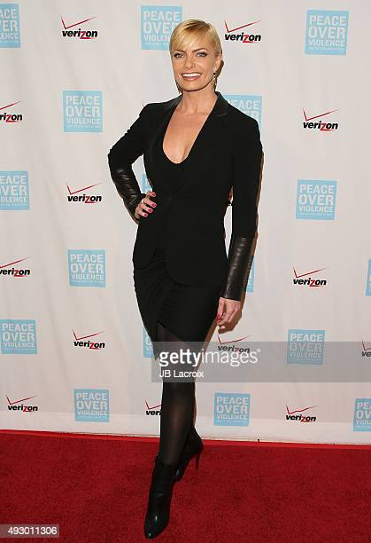 Jaime Pressly attends the Peace Over Violence 44th annual Humanitarian Awards held at the Dorothy Chandler Pavilion on October 16 2015 in Los Angeles...