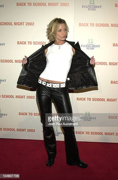 Jaime Pressly during Fulfillment Fund's 3rd Annual 'Back to School Night' at Jim Henson Studios in Los Angeles California United States