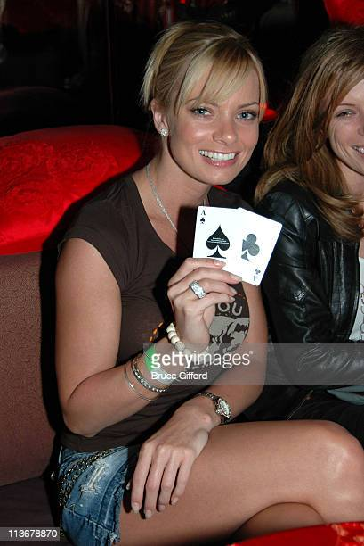 Jaime Pressly during Mansionpokernet Hosts The Poker Dome Challenge Launch Party May 25 2006 at Tao Nightclub in Las Vegas Nevada United States