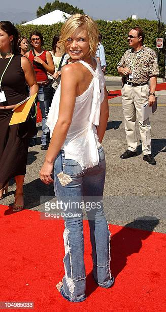 Jaime Pressly during The 2002 Teen Choice Awards - Arrivals at The Universal Amphitheatre in Universal City, California, United States.