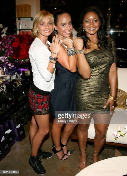 Jaime Pressly, jewelry designer Danielle Premone and actress Tamala Jones attend the Amica Style Trunk Show With Fake Bake And The Luxe Beauty Team...
