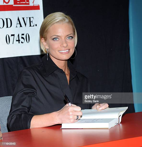 """Jaime Pressly promotes """"It's Not Necessarily Not the Truth"""" at Bookends Bookstore on March 19, 2009 in Ridgewood, New Jersey."""