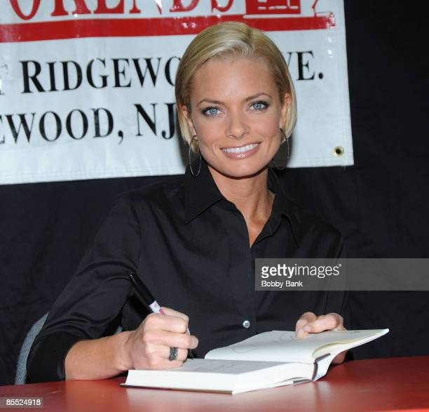 """Jaime Pressly promotes """"It's Not Necessarily the Truth"""" at Bookends Bookstore on March 19, 2009 in Ridgewood, New Jersey."""